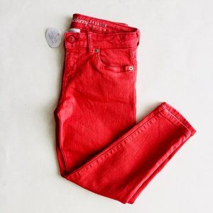 NWT Gymboree Coral Cropped Skinny Jeans